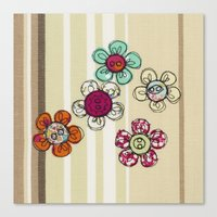 Embroidered Flower Illus… Canvas Print