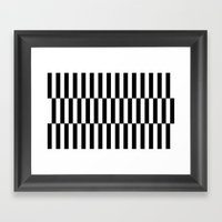 Black & White Triple Str… Framed Art Print