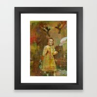 Let the birds go Framed Art Print