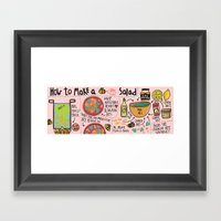 Bee Salad Framed Art Print