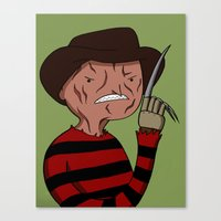 Adventure Time with Freddy Krueger Canvas Print