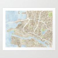 Oakland California Water… Art Print