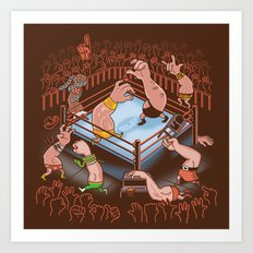 Arm Wrestle Mania Art Print