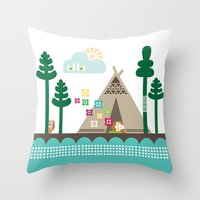 Midsummer Dreams Throw Pillow