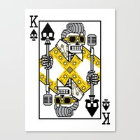 Dead King Card Canvas Print