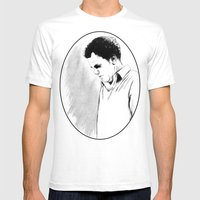 DARK COMEDIANS: John C. Reilly Mens Fitted Tee White SMALL