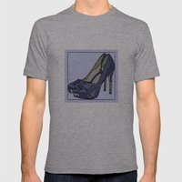 Blue sweet shoe -or....? Mens Fitted Tee Athletic Grey SMALL