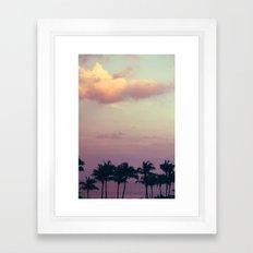 florida tress Framed Art Print