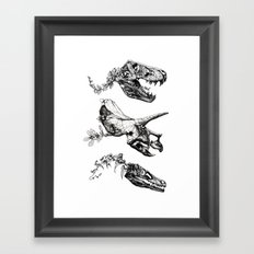 Jurassic Bloom. Framed Art Print
