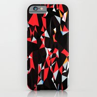 iPhone Cases featuring Sick iPhone Red and Black case by deathtopaparazzi