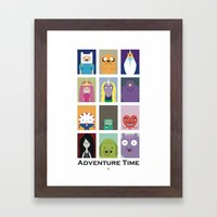 Minimalist Adventure Tim… Framed Art Print