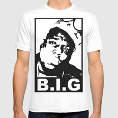 NOTORIOUS B.I.G Mens Fitted Tee White SMALL