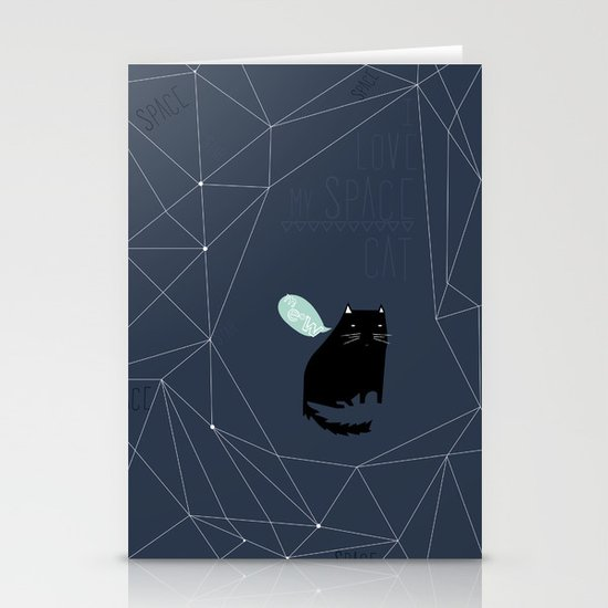 my_spacecat Stationery Card