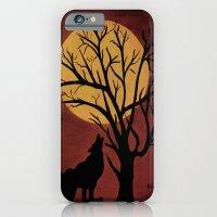 Full Moon/red iPhone 6 Slim Case