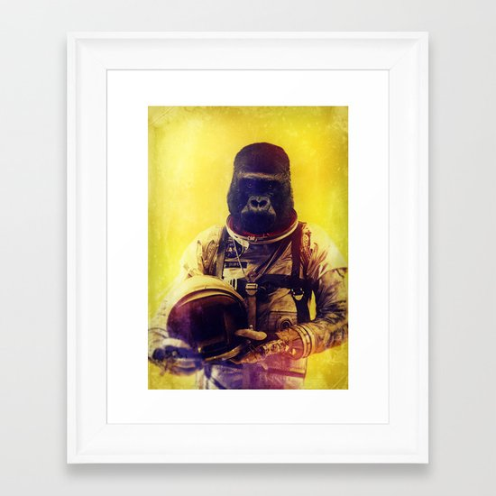 Back To The I'm From The Future Framed Art Print