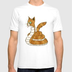 Cat Snake Mens Fitted Tee White SMALL