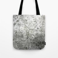 Sidewalk Flower Tote Bag