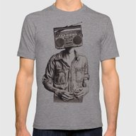 Radio-Head Mens Fitted Tee Athletic Grey SMALL