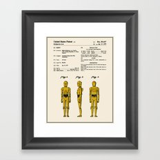 C3P0 Patent - Colour Framed Art Print