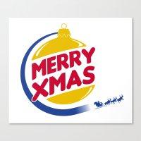 Burger Xmas Canvas Print
