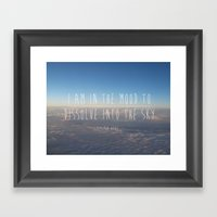 Dissolve Into The Sky Framed Art Print