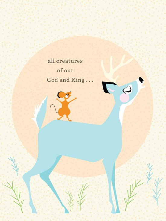 All Creatures (blue) Art Print