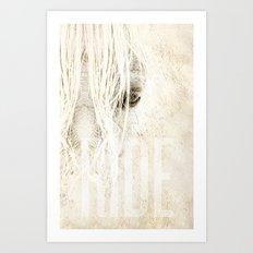 Ride Art Print