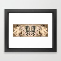 Flying fantasies Framed Art Print