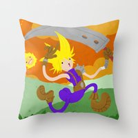 Final Fantasy VII: On Cloud 9 Throw Pillow