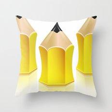 Stylized Pencil Artwork (Vector) Throw Pillow