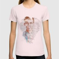 Stromae (Watercolor) Womens Fitted Tee Light Pink SMALL