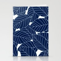 Sweet Leafs:  Navy Stationery Cards