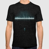 TRON CITY Mens Fitted Tee Tri-Black SMALL