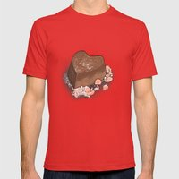 Valentine's Day with Sea Salt (Single Chocolate) Mens Fitted Tee Red SMALL