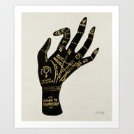 Art Print featuring Palmistry by Cat Coquillette