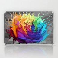 Colorful Flaming Flower Laptop & iPad Skin