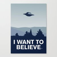 My I want to believe minimal poster-xfiles Canvas Print