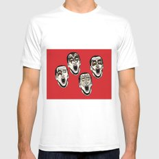 Kiss Cage Mens Fitted Tee SMALL White