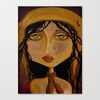 Pilot Girl Canvas Print