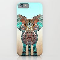 orange iPhone & iPod Cases featuring ElePHANT by Monika Strigel