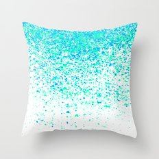 sparkling mint Throw Pillow