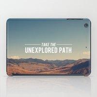 Take The Unexplored Path iPad Case