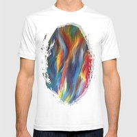 Abstract Painting Mens Fitted Tee White SMALL