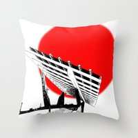 Barna Love Red Sun Throw Pillow
