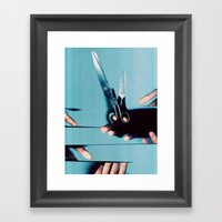 Cutting Everything Framed Art Print