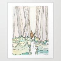 She Fell Into The Ocean Art Print