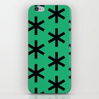 Vondel Black on Green Pattern iPhone & iPod Skin