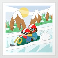 Winter Sports: Bobsleigh Art Print