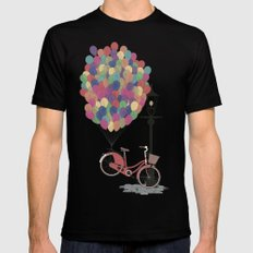 Love to Ride my Bike with Balloons even if it's not practical. Mens Fitted Tee Black SMALL