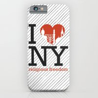 iPhone & iPod Case featuring Luv New York Religious Freedom by FF designs